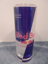 "Red Bull Plastic Can, 1"" crack on the bottom!"