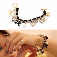 Markenlose Modeschmuck-Armbänder im Ketten-Stil mit Perlen (Imitation)