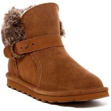 NEW Bearpaw Koko Genuine Shearling Boot, Brown Suede, Women Size 5, $90