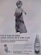 PUBLICITÉ 1968 SOUPLINE ASSOUPLI FINI LE LINGE DE BÉBÉ RÊCHE - ADVERTISING