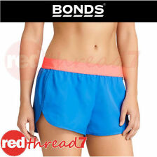 Polyester Patternless Athletic Shorts for Women