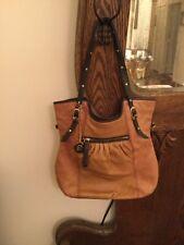 The SAK  Brown Leather Studs HANDBAG PURSE