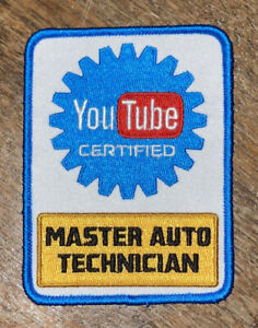 YouTube Certified Mechanic Patch - Master Auto Technician - BUY 3, GET 1 FREE!