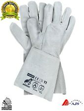 5 x Welding Gloves INDIANEX,Heat Resistant,Leather Protective Gauntlets
