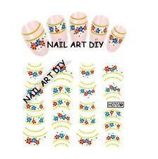 Nail Art stickers Water Transfer-Adesivi con Decorazioni d'ORO-Fiori-BUY 3 GET 4