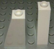 Lego Stein schräg positiv 1x2x3 Weiss 2 Stück                             (1241)