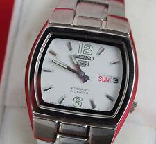 Seiko Sports 5 automático fondo de cristal reloj hombre 35 mm
