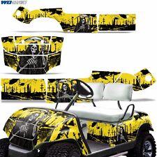 Yamaha Golf Cart Graphic Kit Decal Sticker Parts 2 Seater Wrap 95-06 REAP YELLOW