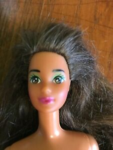 Vintage rare 1970's Steffie Face Barbie Doll long hair brunette brown eyes