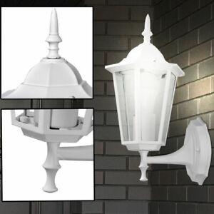 Außen Leuchte Fassaden Haus Wand Beleuchtung Terrasse Laterne Garten Lampe Weiß