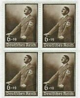 Germany 1939,3rd Reich, Block of 4 Mi. 694, Sc B140,  **MNH