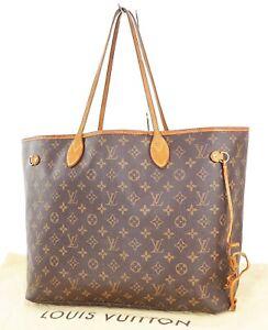 Authentic LOUIS VUITTON Neverfull GM Monogram Tote Bag Purse #38432