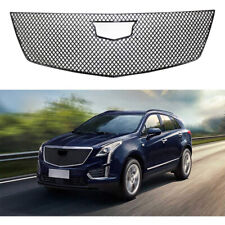 Grill Cover for 2017-2020 Cadillac XT5 ABS Painted GLOSS BLACK Grille Trim Guard