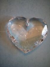 Heart shaped acrylic hanging crystal 4 inches x 5 inches