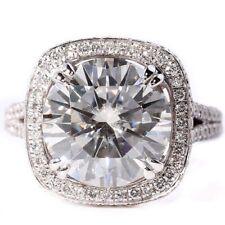 3.25 K taglio rotondo Anello di fidanzamento, Diamante a Aureola in 9K