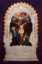 """Our Lord of The Miracles 24"""" x 36""""-original oil painting-Diana Mendoza-COA"""