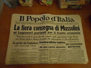 quotidiano-IL POPOLO D'ITALIA n.217-1941-serie GIORNALI DI GUERRA-RIPRODUZIONE