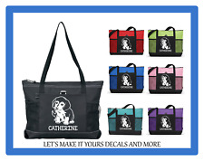 BEAGLE PUPPY DOG PERSONALIZED NAME TOTE PURSE SPORTS GYM TRAVEL DIAPER BAG ZIPS
