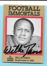 1985 Football Immortals HOF Willie Davis Autograph Chiefs