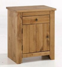 Varadero Solid Pine Wood 1 Drawer 1 Door Bedside Cabinet Contemporary Bedroom