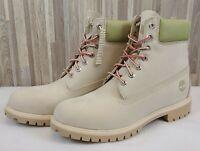 "Timberland Men's 6"" Premium Boots, Light Beige Nubuck - Size 12M NWB $198"