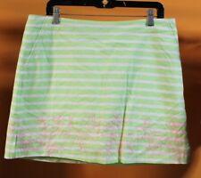 NWT Lady Hagen Islamorada Floral Embroidery GREEN PARADISE Skort Tennis Golf  12