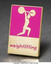 OLYMPIC PINS BADGE 2012 LONDON ENGLAND COLORED PICTOGRAM ICONS WEIGHTLIFTING