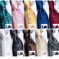 HT 300 Colors Mens Silk Tie Necktie Blue Red Brown Green Novelty Paisley Strip
