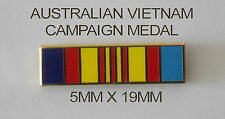 AUSTRALIAN VIETNAM CAMPAIGN MEDAL RIBBON BAR 5MM X 19MM ENAMEL & NICKEL PLATED