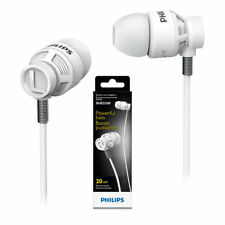 Philips SHE5200 Dj Style Powerful Bass In-ear Headphones - White (Brand New)