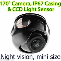 CCD Waterproof Night Car Reverse Camera Rear View Parking Adjustable Angle Small