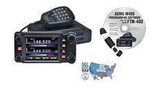 Yaesu FTM-400XD C4FM Dual Band Mobile Radio and RT Systems Prog. Kit Bundle!!
