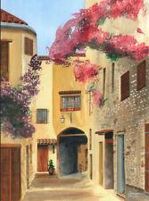 Great Provence street scene watercolor