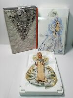 1991 Bob Mackie Platinum Barbie Doll 2703 with stand  and print Collectible Vntg