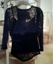 ladies black lace top size 12