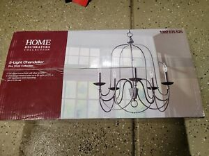 Home Decorator Rivy West 5-Light Oil Rubbed Bronze Chandelier/ Silver Highlights