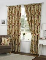 "Kliving Amsterdam Floral Tapestry Pair Tie backs for Curtains 26"" Natural Beige"