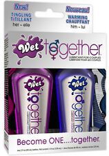 Wet Together Lubricant for Couples - 2 x 2oz Lube! Free Shipping!