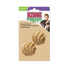 KONG Naturals Straw Ball Cat Catnip Toy Fun and Games 2 Balls 1 Pack