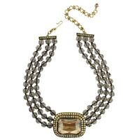 "HEIDI DAUS ""Tailored to Please"" Crystal Multi-Strand Necklace Golden Shadow $299"