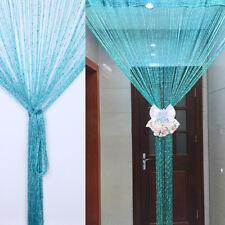 String Curtains Patio Net Fringe for Door Tassel Fly Screen Windows Divider Wniu 1pc Blue 100cm X 200cm