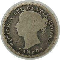 1858 10 CENTS CANADA (SILVER) VG DETAILS (scratches) KM#3  Better Date (053120)