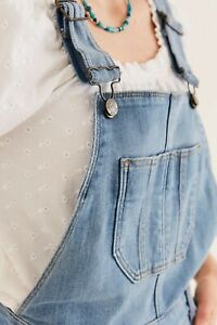 Fat Face Clayton Dungarees, Mid Wash Size 8 R New With Tags