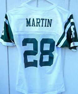 NEW YORK JETS CURTIS MARTIN #28 FOOTBALL JERSEY SZ YOUTH  SMALL BY CHAMPION