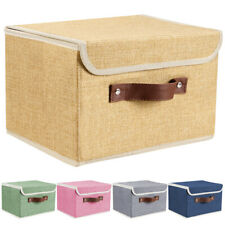2/4/6Pcs Collapsible Fabric Cube Storage Bins Large Home Organizer Boxes Baskets