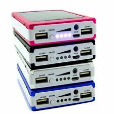 Solar Power Bank Box 2x USB Port Portable Sun Power Phone Charger Case DIY Kit