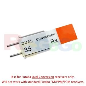 Genuine Futaba Dual Conversion 35.000MHz Ch-60 RX Receiver Crystal (Bulk Pack)