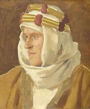 Augustus John Reproduction: Portrait of Lawrence of Arabia  - Fine Art Print