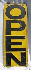 Vintage Painted Wooden Open Sign Automobila