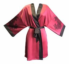 Ladies Sexy Cute Thin Red or Cream Short Japanese Kimono Robe / Dressing Gown